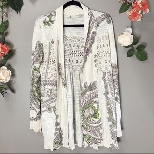 Anthro Knitted & Knotted | Floral cardigan